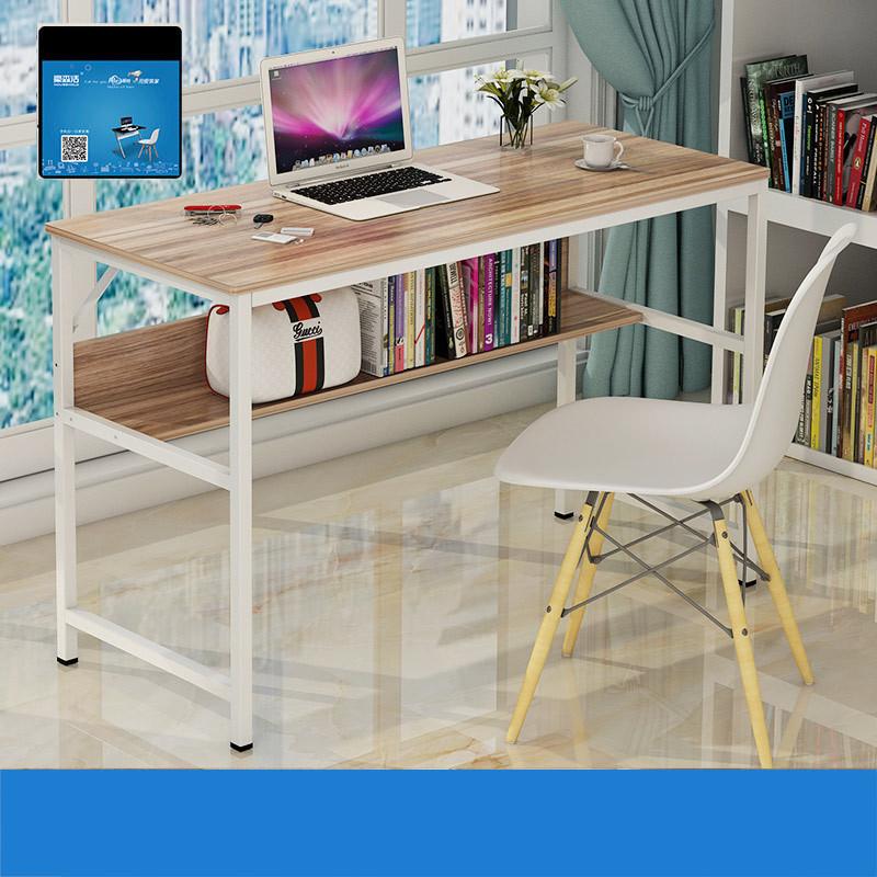 家居家装桌类电脑桌便携式可折叠电脑桌 a款免安装可折叠枫樱木90*45