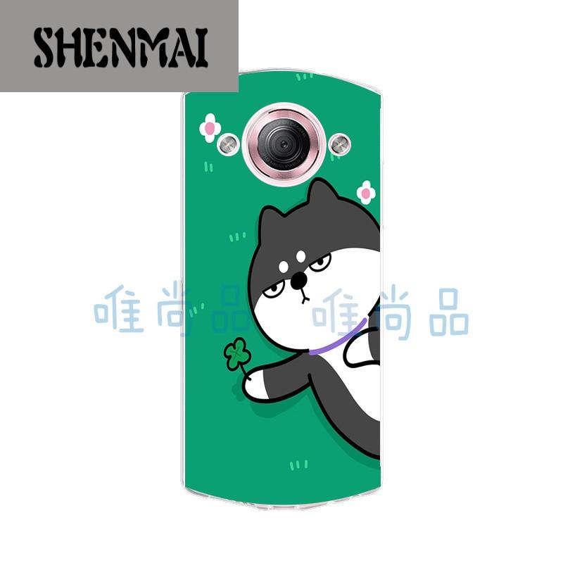 品牌美图m4/s/v4/s手机壳美图m6/s/t8保护套硅胶q版卡通可爱搞怪柴犬