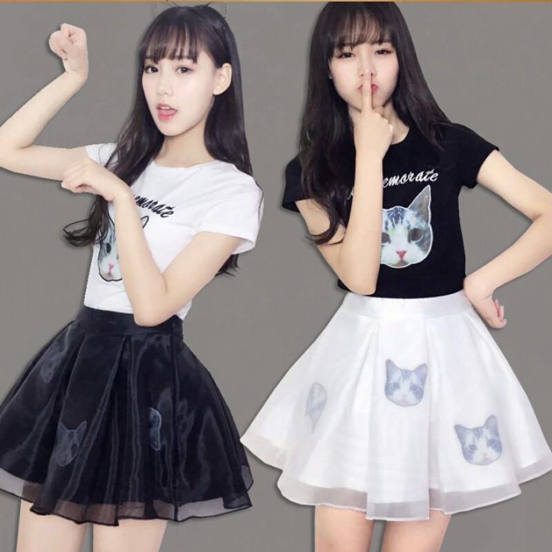 少女夏装套装裙子姐妹装闺蜜装两件套小清新可爱学生连衣裙女短裙我只