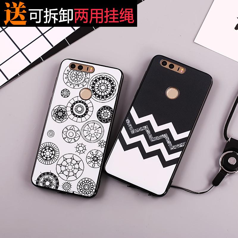 622款华为p9青春版手机壳g9保护套软胶vns-al00创意vns-tl00潮男挂绳