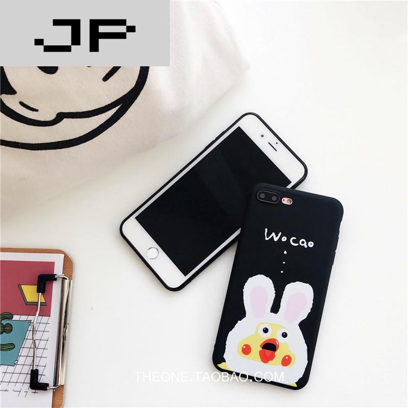 JP图片品牌可爱表情苹果小鸡卡通6s手机壳潮流文字毁容搞笑的图片