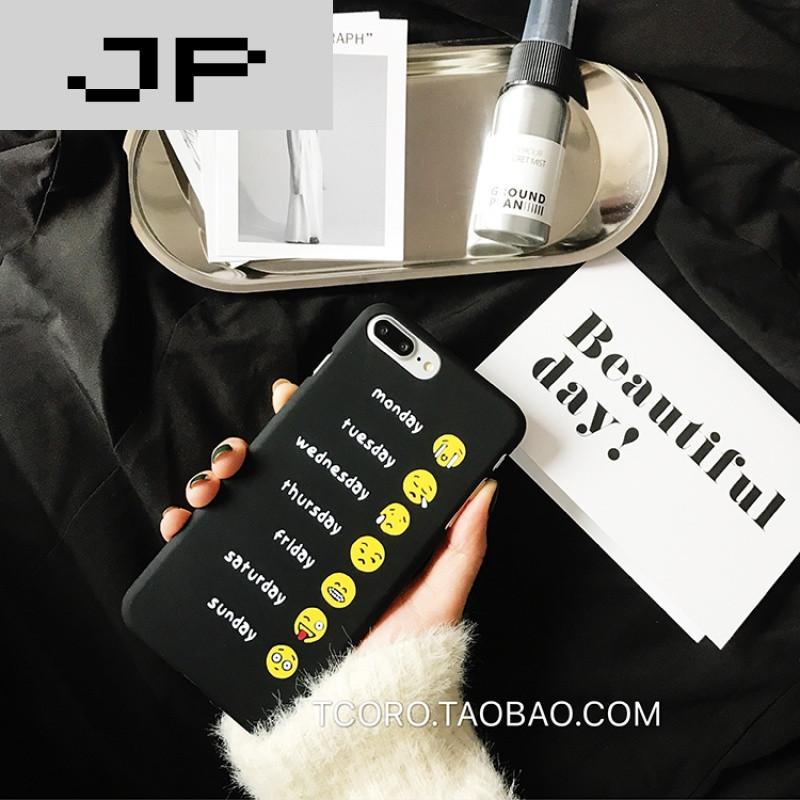 JP品牌表情的巴搞笑图片蔫人原创1意搞笑一周苹果潮流7手机壳iP图片