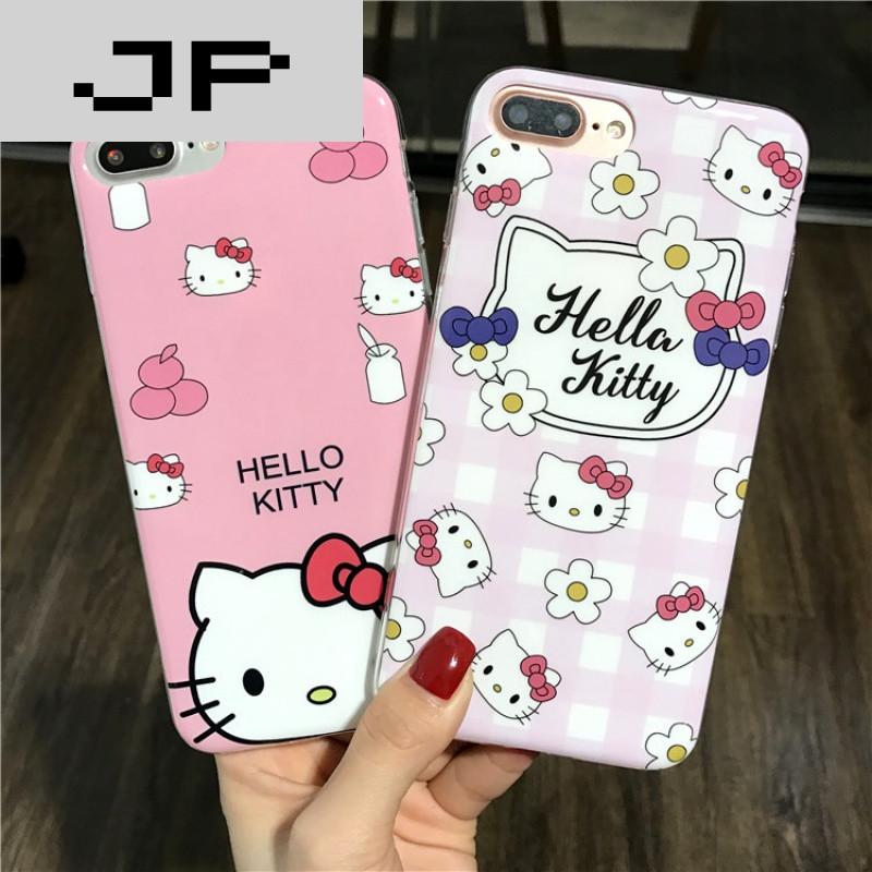 jp潮流品牌可爱萌猫咪苹果6手机壳女款iphone7plus全包软硅胶保护套6s