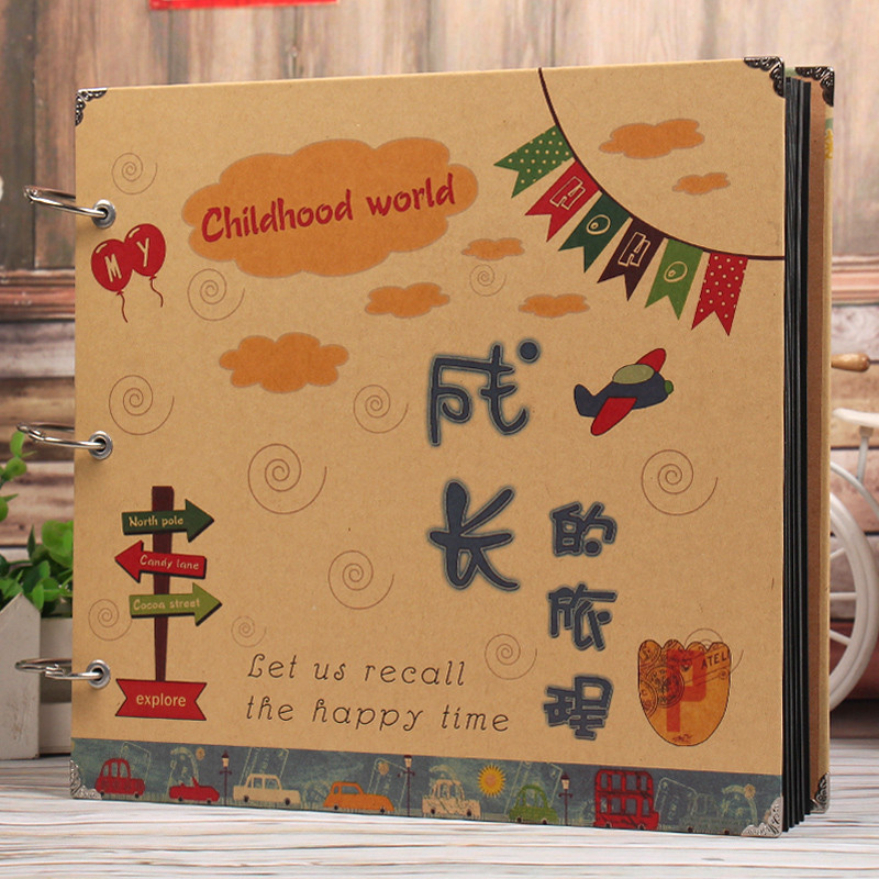 家庭礼物相册影集手工相册创意diy制作儿童成长纪念册-15寸成长旅程