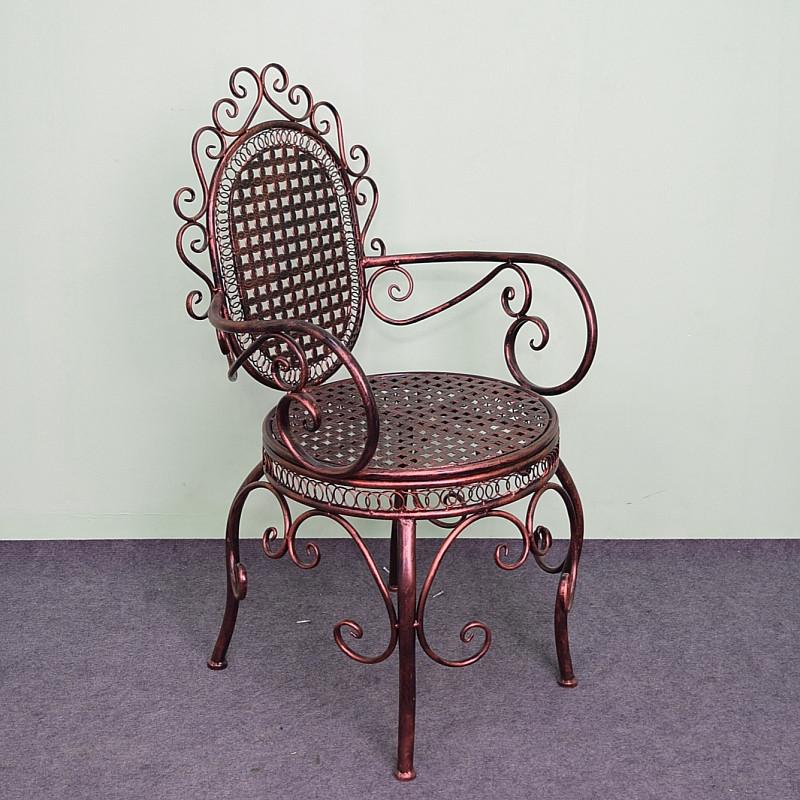 铜鑫 户外家具欧式铁艺贵妃椅庭院阳台室内接待会客厅休闲桌椅组合三