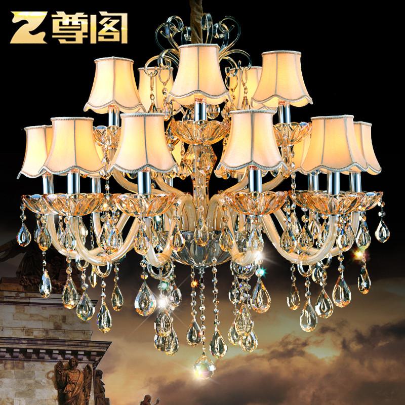 尊閣 歐式吊燈客廳水晶吊燈現代簡約臥室燈餐廳燈具125奢華水晶燈 15