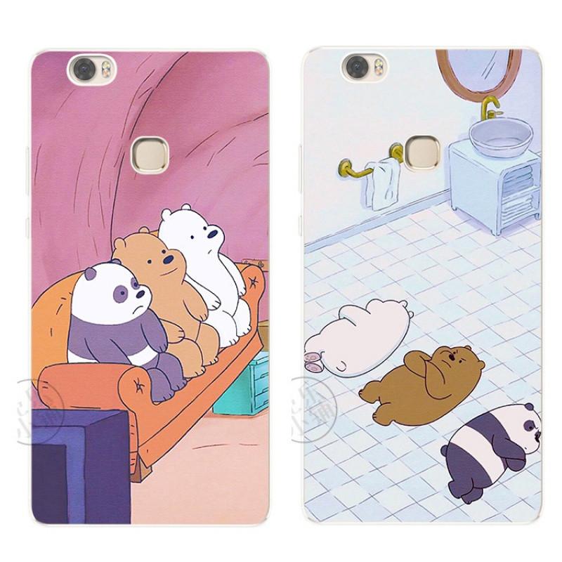 2017款三只熊可爱卡通原创意华为nova荣耀8v8note8荣耀magic手机硅胶