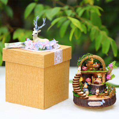 生日礼物手工diy小树屋爆炸盒子情人节送女朋友男友创意礼品-奇幻森林