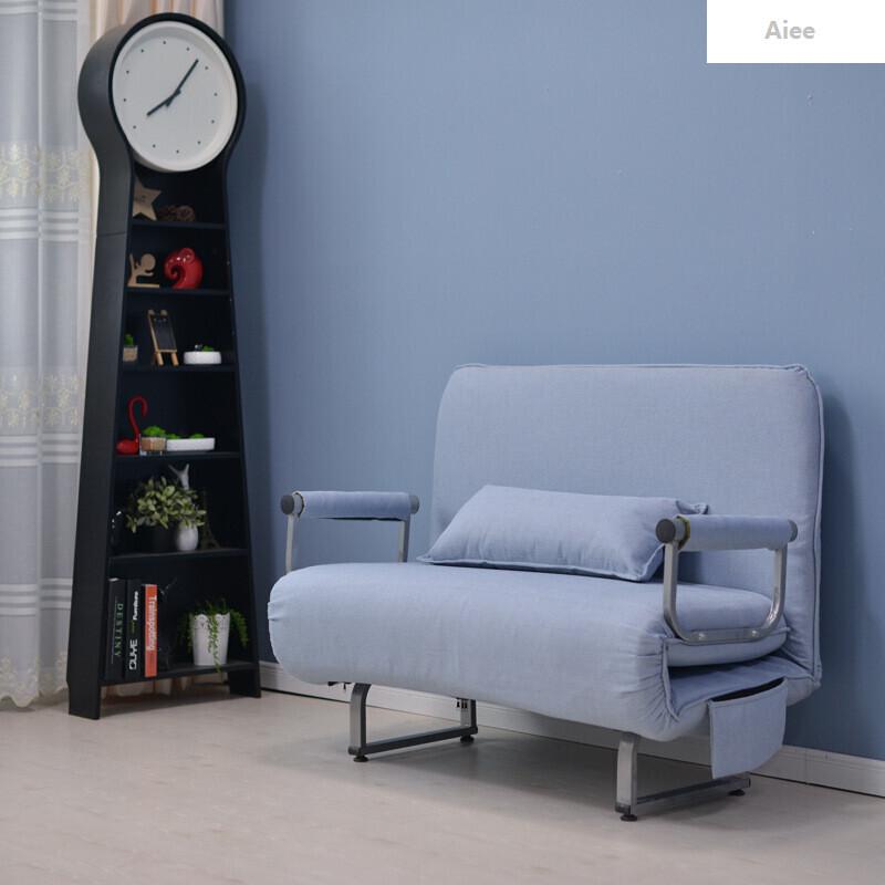 实木雕花描银沙发小户型客厅法式沙发1503634615491 均码 l3湖蓝色