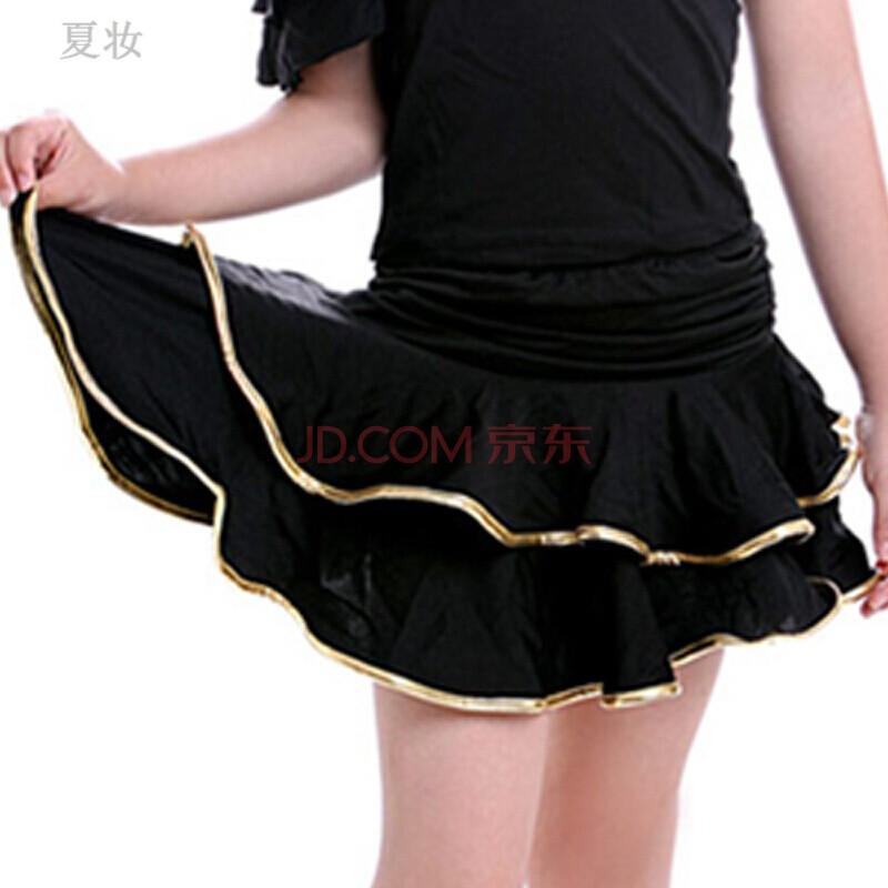 夏妆儿童舞蹈服女童练功服少儿拉丁舞服装幼儿表演服合唱舞裙 xl(160