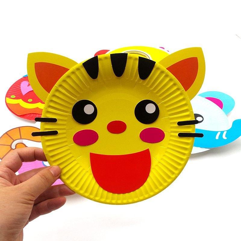 益智早教儿童手工diy幼儿园创意贴画动手玩具美术纸盘贴纸3-5-7岁当