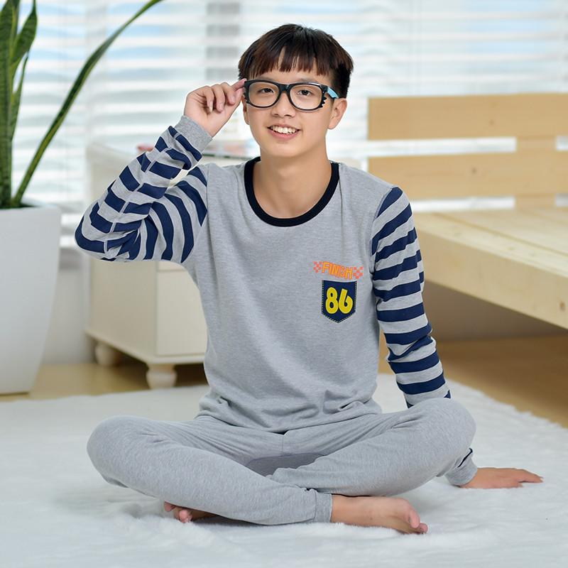 新款新款套装青少年秋衣秋裤学生高初中初中薄行为规范三字经纯棉图片