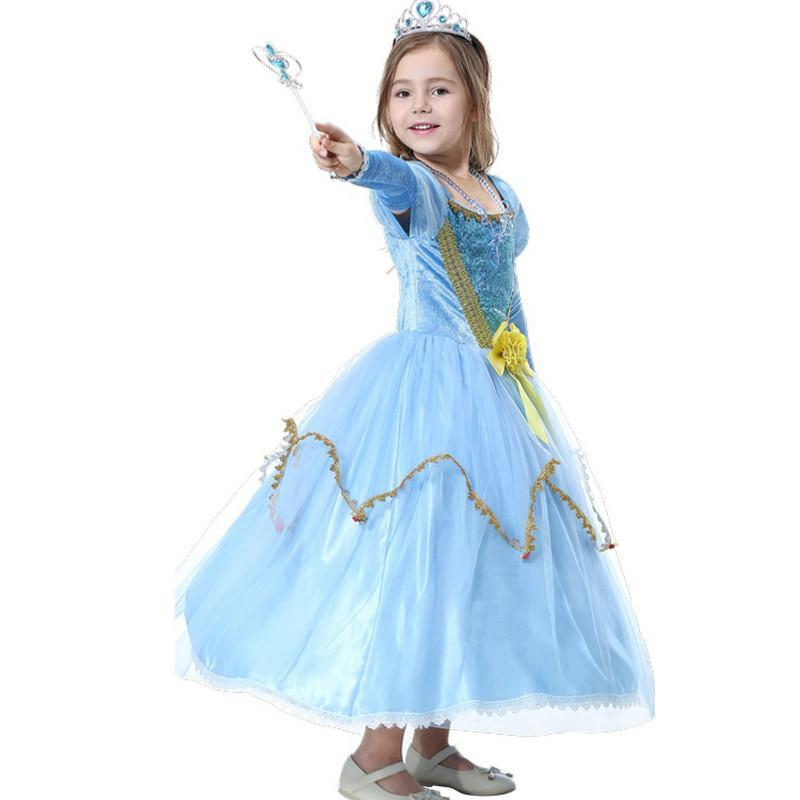 六一儿童节演出服装儿童舞蹈表演灰姑娘公主裙礼服蓬蓬裙_1 120cm