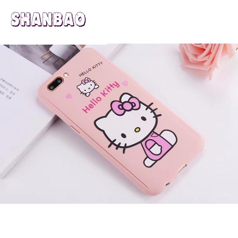shanbaor11手机壳前后全包边防摔手机套可爱卡通红色kitty凯蒂猫女 买