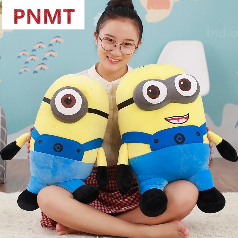 pnmt新款可爱小黄人公仔毛绒玩具抱枕布偶娃娃卡通女孩生日礼物独角