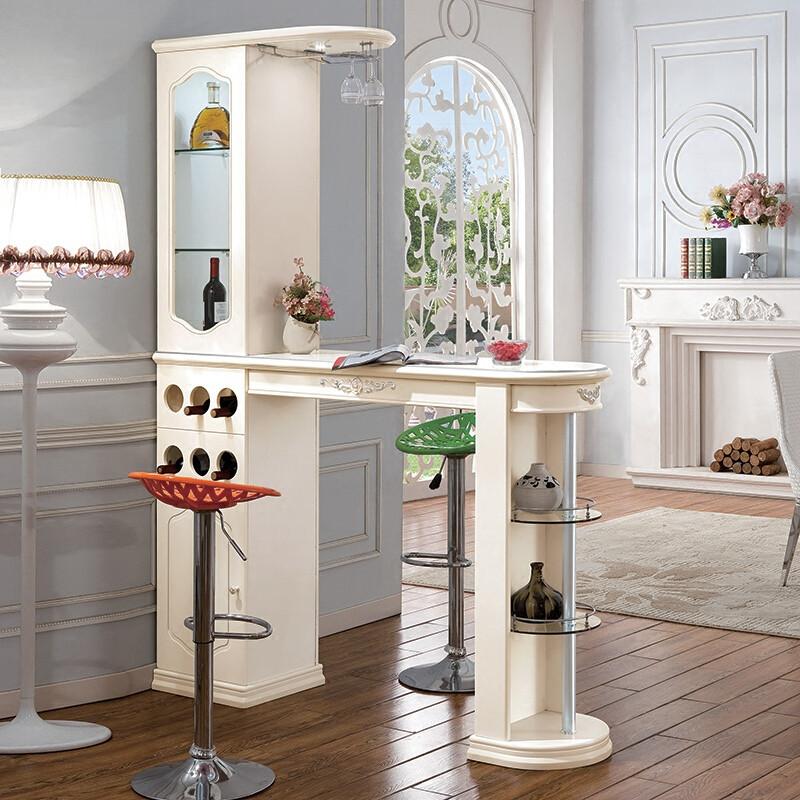 欧式隔断柜客厅玄关柜门厅柜吧台家用双面酒柜进门装饰柜子吧台桌303