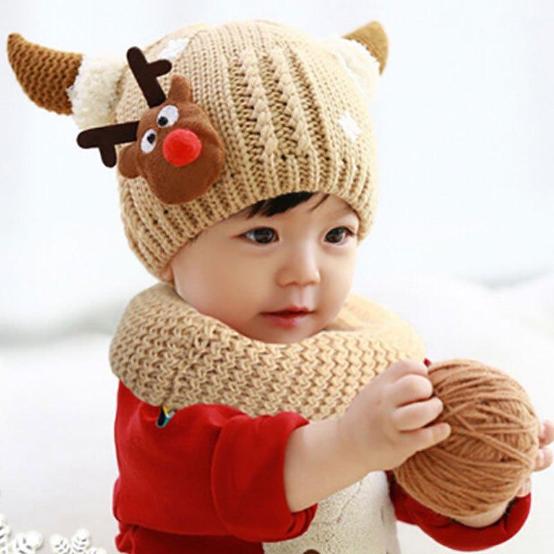 加厚保暖婴儿帽子0-1-2岁毛线儿童帽子潮当季新品可爱卡通小孩子帽子