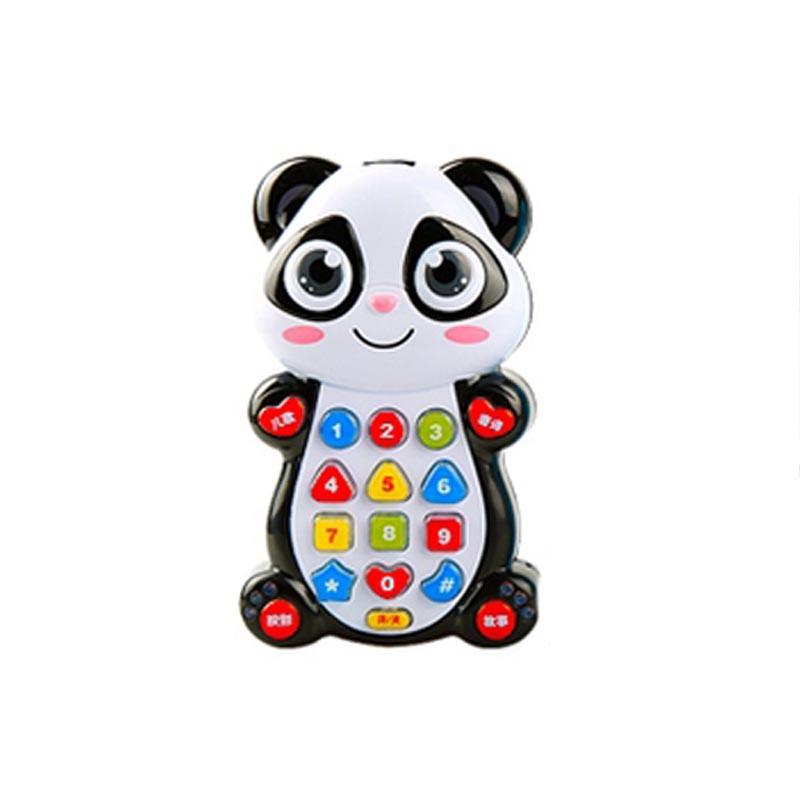 home toys 20272儿童玩具电话手机婴儿学习小孩早教手机音乐故事大象