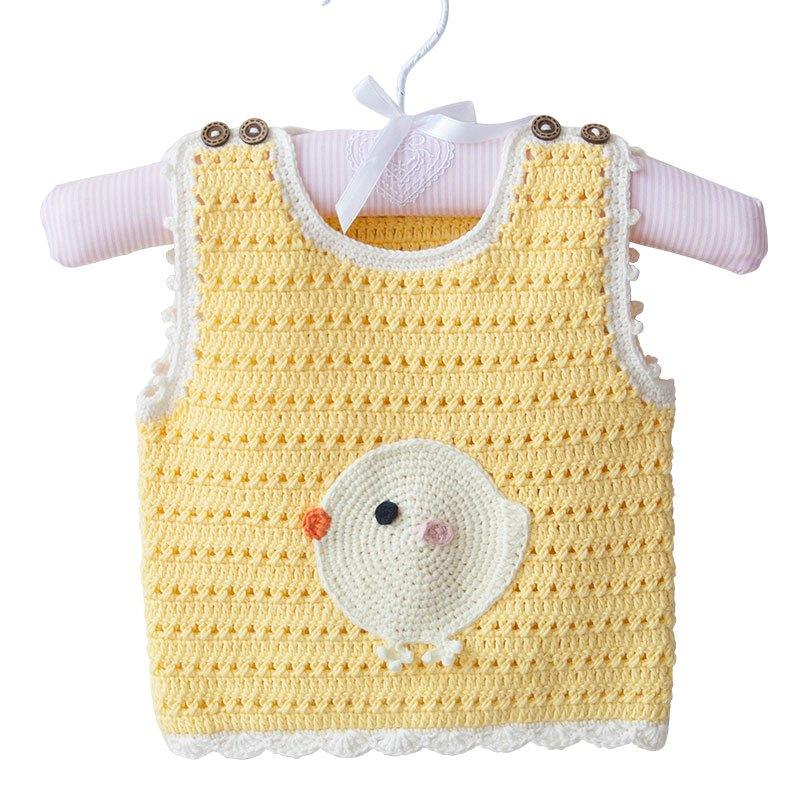 110新款趣编织婴儿宝宝马甲钩针手工diy编织材料包织毛衣儿童纯棉线毛