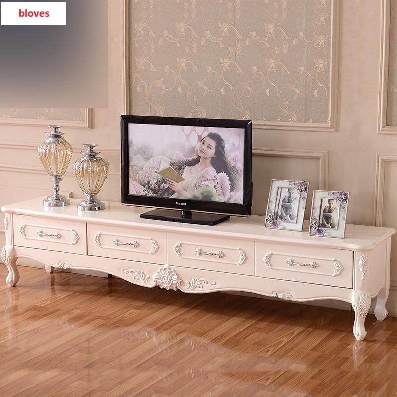 bloves-()欧式电视柜茶几组合法式实木客厅矮柜大理石地柜 1.图片