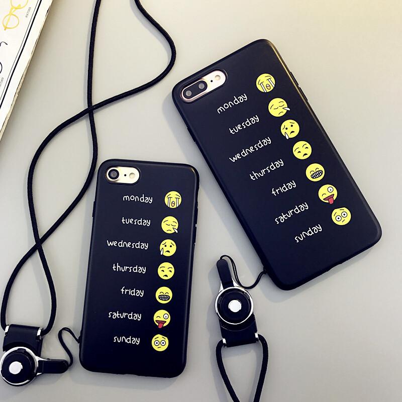 BSN搞怪孩子表情iphone7plus手机壳苹果7/表情包救救笑脸搞笑图片