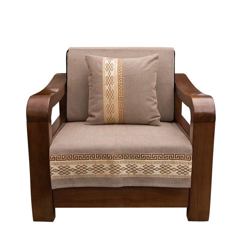 中式沙发垫四季通用布艺沙发巾实木沙发坐垫现代客厅组合定做 90*210图片