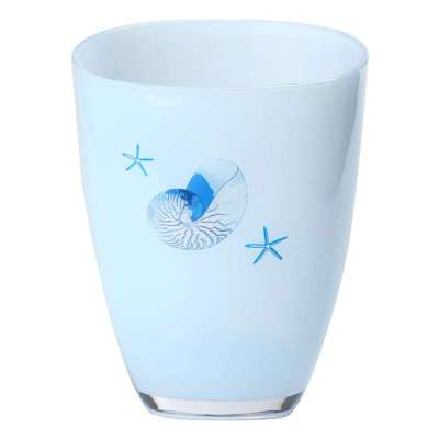 多样屋海岛风情垃圾桶/蓝色ta310102310zz