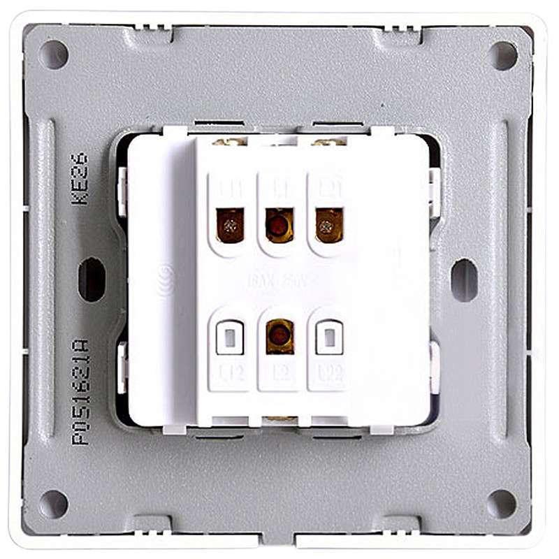 欧普照明 86型电工致美 开关二开单控p051621a图片