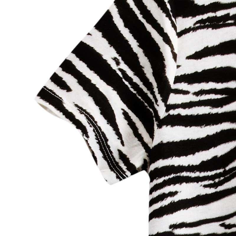 vancl凡客诚品 斑马纹不规则打底裙 黑白条纹 xs