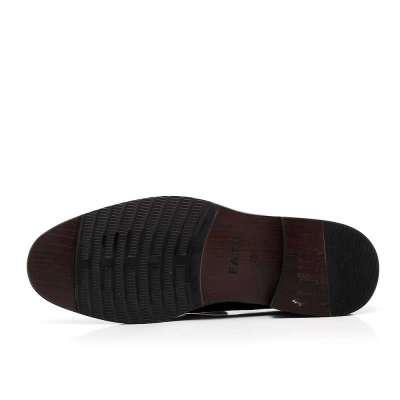 伐拓夏季黑色小牛皮男鞋c268-6