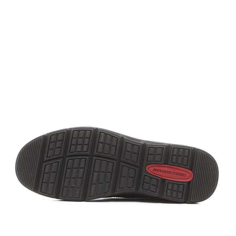 森达黑色牛皮男棉鞋2mh52r