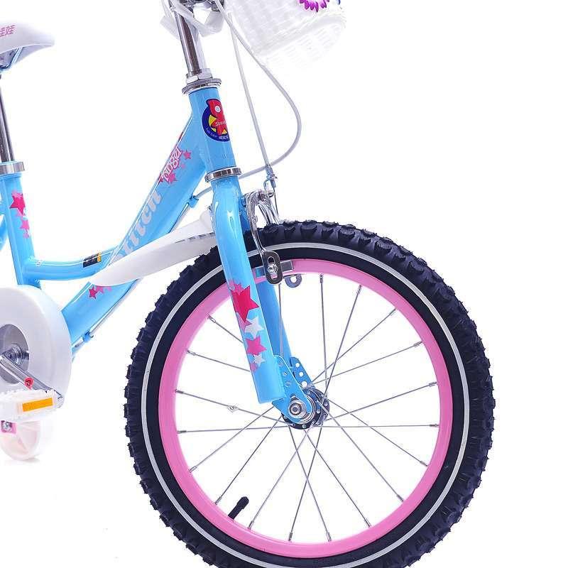 棋娃娃儿童自行车英国女孩-14 蓝色  车体结实耐用,焊接顺滑,造型设计