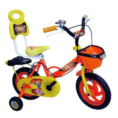 远大金甲战士12寸儿童自行车黄色