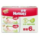 Huggies好奇超厚倍柔湿巾清爽型80抽补充装*6包装