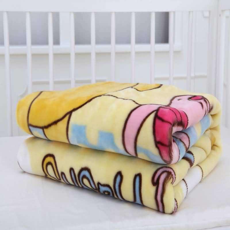 迪士尼宝宝(disneybaby) 暖暖假日云毯732601300 黄色