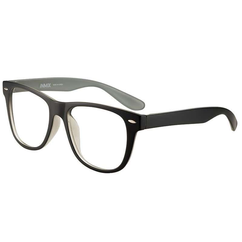 音米复古超轻眼睛框眼镜架眼镜框2186c外黑内灰色