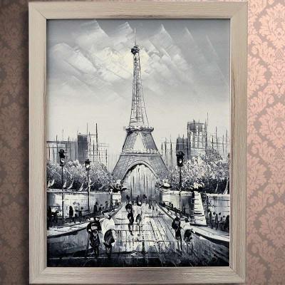 in-life/宜生活手绘油画《埃菲尔铁塔》现代欧式风格