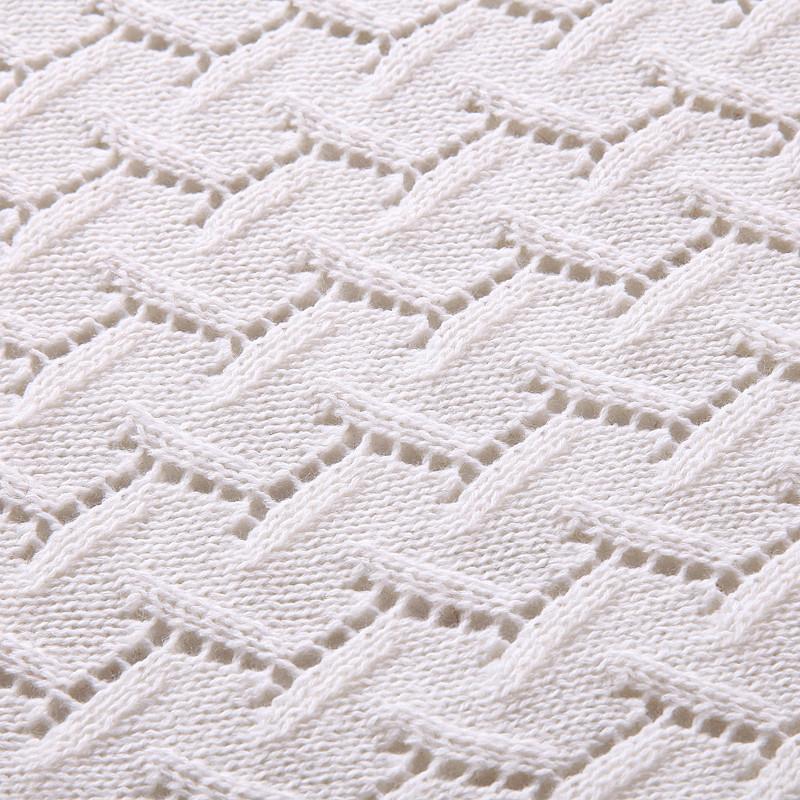 镂空米兰晴纶针织毯
