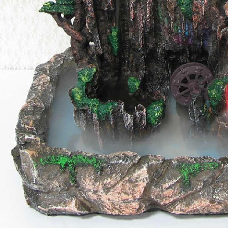 ica愉家艺品风水轮摆件假山流水喷泉水景鱼缸工艺品