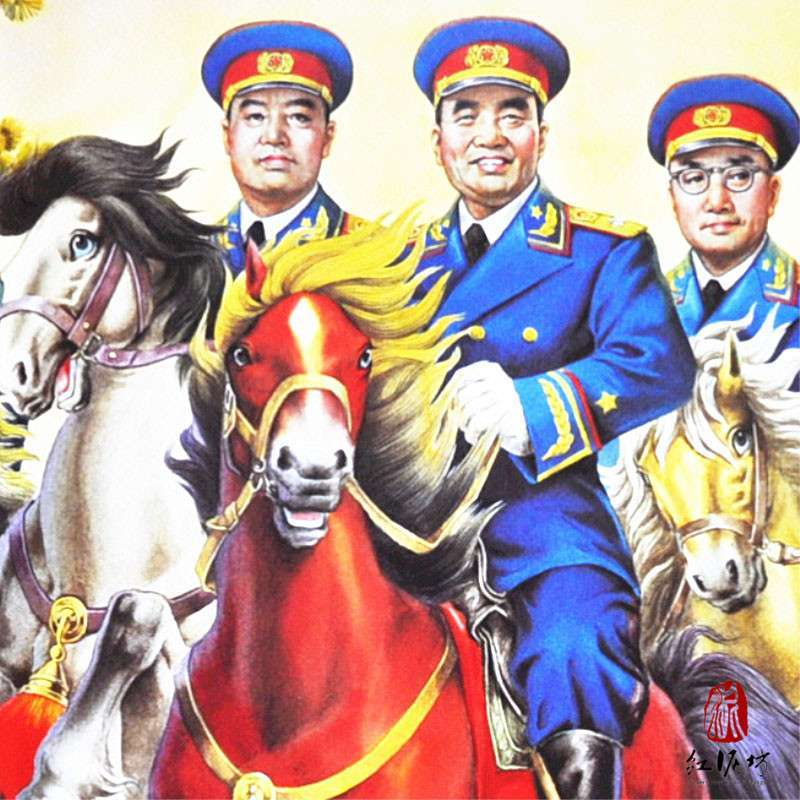 杨柳青年画 九大元帅 红色记忆 红军海报 纪念历史 建国 爱国 中国梦