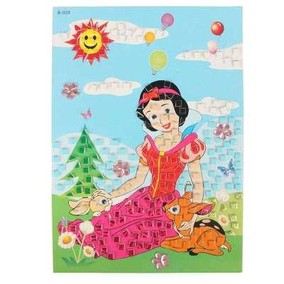 大贸商 3d马赛克立体贴画 卡通手工制作 只售白雪公主