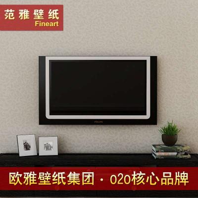 厅电视背景墙纸欧式卷叶草