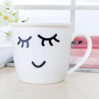 可爱表情时尚陶瓷杯子卡通杯马克杯具早餐牛奶杯奶茶