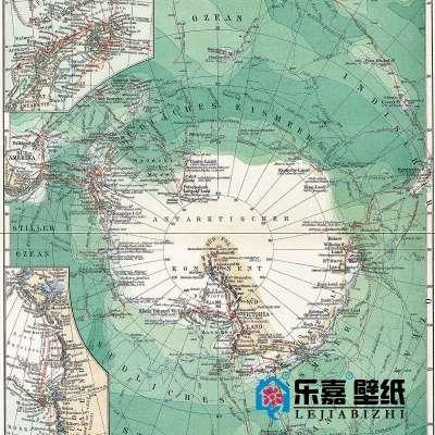 南极大陆地图m525-1