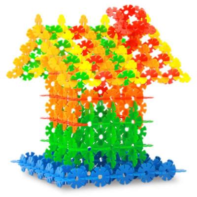 加厚雪花片拼插塑料积木儿童玩具构建积