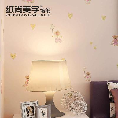 无纺布环保儿童房墙纸 可爱熊男孩女孩卧室背景壁纸-苏宁电器网上商城