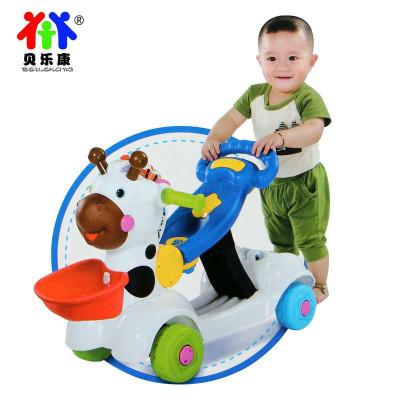 小鹿学步车 儿童多功能手推车