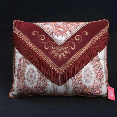 伊莎贝拉欧式绣花信封枕红色