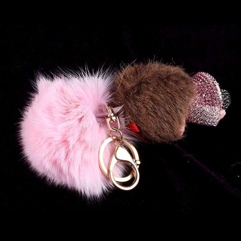 玉玄林 可爱蒙奇奇钥匙扣 汽车钥匙挂件 女款 包挂件饰品女 货到付款