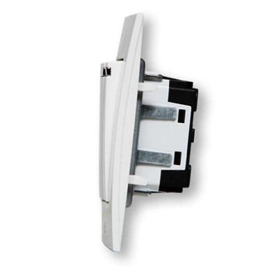 abb开关插座面板abb开关/超薄由艺 二开双控带灯带线au16553-ww